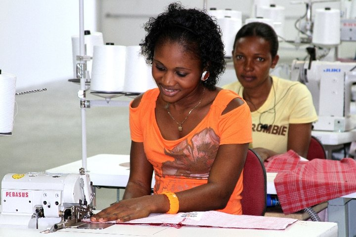 Women working in Haitian garment factory