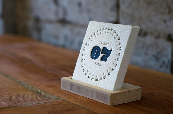 TYPE 2015 letterpress desk calendar from iSkelterProducts / Image: iSkelter